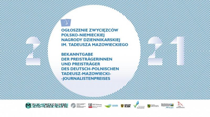 Bekanntgabe der Preisgewinner des Deutsch-Polnischen Tadeusz-Mazowiecki Journalistenpreises 2021