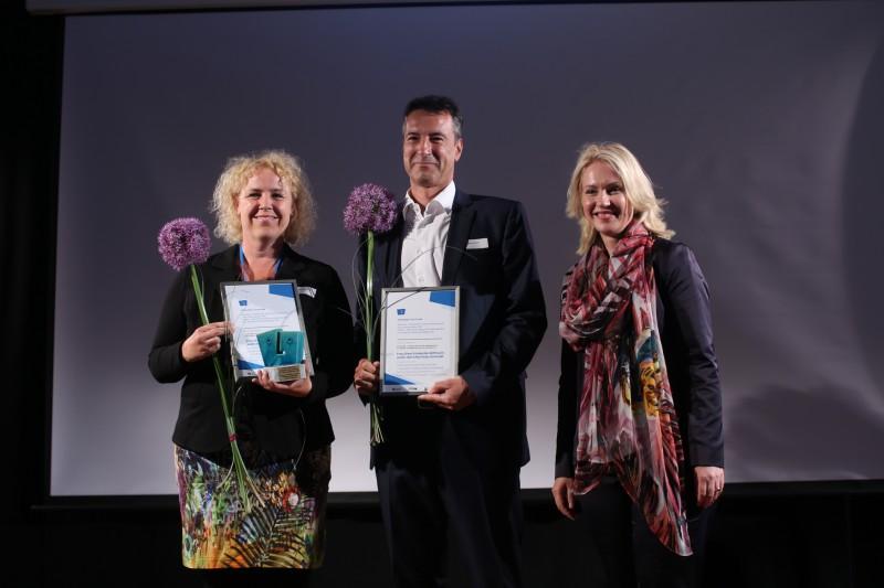 Gewinner des Deutsch-Polnischen Tadeusz-Mazowiecki-Journalistenpreises 2018 sind Jacek Harłukowicz, Jan Pallokat, Ingo Dell; Friederike Witthuhn und Peter Schmidt, Ewelina Karpińska-Morek